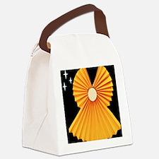 Yellow Accordion Angel Canvas Lunch Bag
