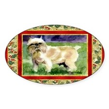 Brussels Griffon Dog Christmas Decal