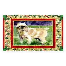 Brussels Griffon Dog Christmas Decal