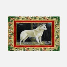 Canaan Dog Christmas Rectangle Magnet