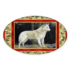 Canaan Dog Christmas Decal