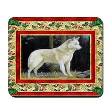 Canaan Dog Christmas Mousepad