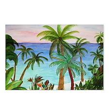 Aqua Beach Rug Postcards (Package of 8)