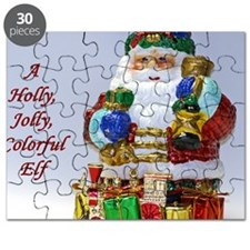 Holly Jolly Colorful Elf Puzzle