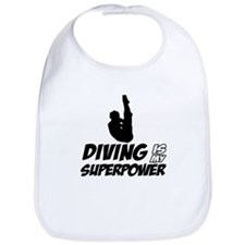 diving is my superpower Bib