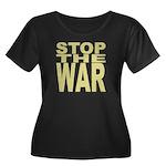Stop The War Women's Plus Size Scoop Neck Dark T-S