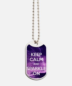 SPARKLE ON Dog Tags