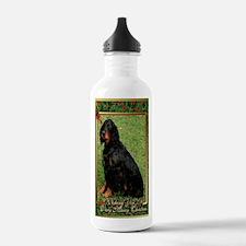 Gordon Setter Dog Chri Water Bottle