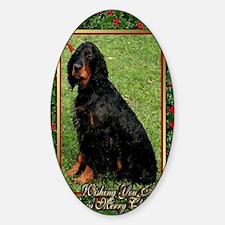 Gordon Setter Dog Christmas Decal