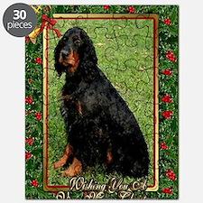 Gordon Setter Dog Christmas Puzzle