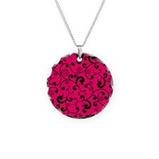Elegant Lime Hot Pink and Bl Necklace
