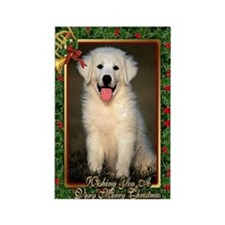 Great Pyrenees Christmas Rectangle Magnet