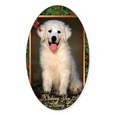 Great Pyrenees Christmas Decal