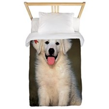 Great Pyrenees Christmas Twin Duvet