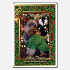 Yorkshire Terrier Christmas Banner