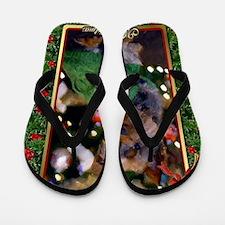 Yorkshire Terrier Christmas Flip Flops
