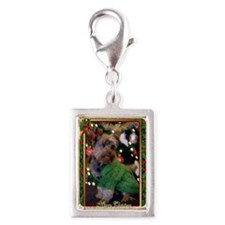 Yorkshire Terrier Christmas Silver Portrait Charm