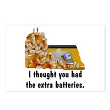 GPS Dead Battery Postcards (Package of 8)