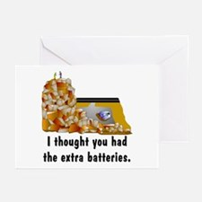 GPS Dead Battery Greeting Cards (Pk of 10)