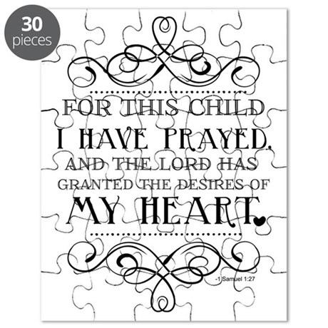 For This Child I Have Prayed Quote Puzzle by Admin_CP113371095