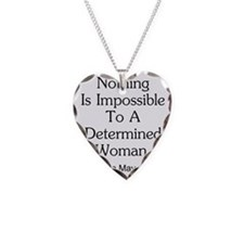Nothing Is Impossible Inspira Necklace Heart Charm