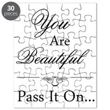 You Are Beautiful Pass It On Quote Puzzle