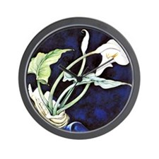 Calla Lilies, painting by Charles Demut Wall Clock