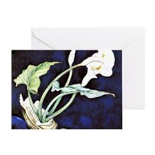 Calla Lilies, painting by Charles De Greeting Card