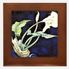 Calla Lilies, painting by Charles Demu Framed Tile