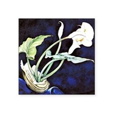 "Calla Lilies, painting by C Square Sticker 3"" x 3"""