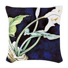 Calla Lilies, painting by Char Woven Throw Pillow