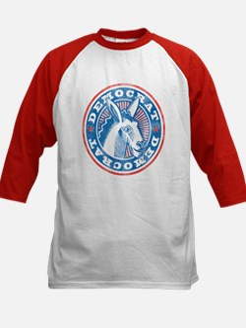 Vintage Democrat Kids Baseball Jersey