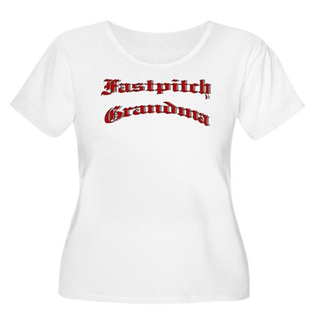 Fastpitch Grandma Women's Plus Size Scoop Neck T-S