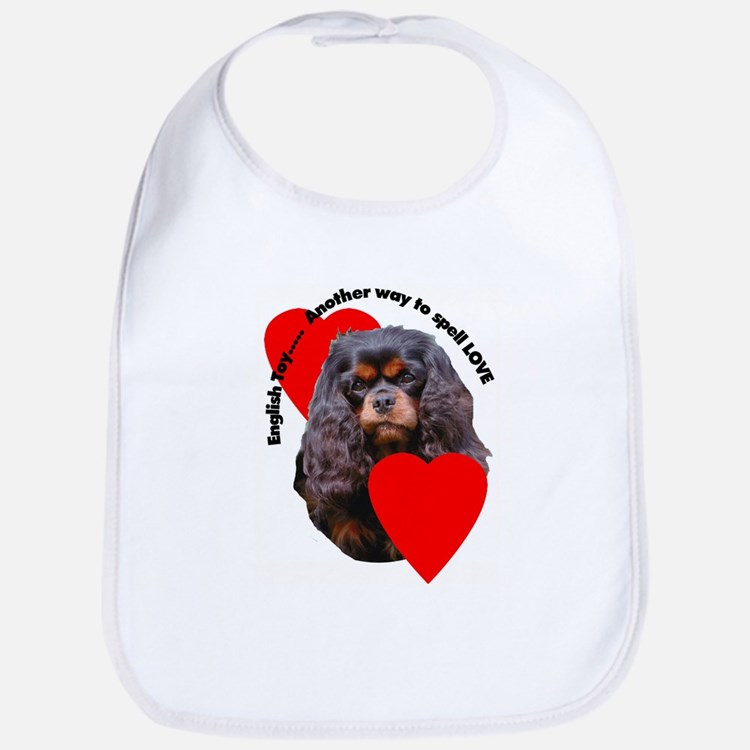 Cavalier King Charles Love Bib