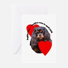 Cavalier King Charles Love Greeting Cards (Pk of 1