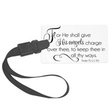 He Shall Give His Angels Charge  Luggage Tag