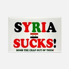 SYRIA SUCKS - BOMB THE CRAP OUT O Rectangle Magnet