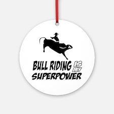 Bull rider designs Round Ornament