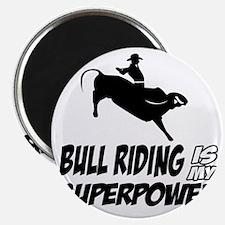 Bull rider designs Magnet