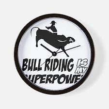Bull rider designs Wall Clock