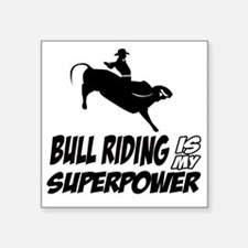 "Bull rider designs Square Sticker 3"" x 3"""