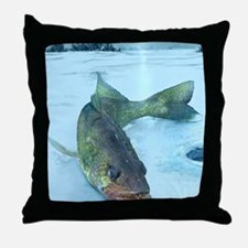 Walleye Ice Throw Pillow