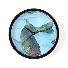 Walleye Ice Wall Clock