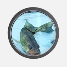 Walleye Ice Wall Clock