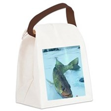 Walleye Ice Canvas Lunch Bag