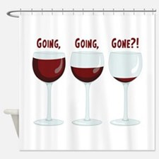 GOING, GOING, GONE?! Shower Curtain