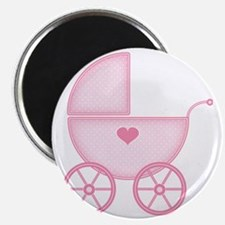 Pink Baby Carriage Magnet