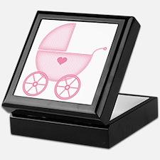 Pink Baby Carriage Keepsake Box