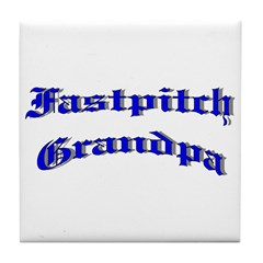 Fastpitch Grandpa Tile Coaster