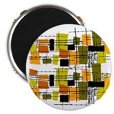 Mid Century Modern Barkcloth Magnet